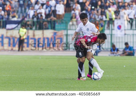 BANGKOK,THAILAND:APRIL;2016:Phongsuriyan Aep Faeng of Army FC during football Toyota League cup between Army FC and BURIRAM UTD. , at Army Stadium on April 10,2016:Thailand.