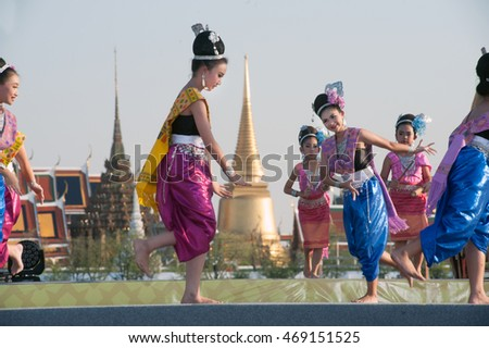 BANGKOK,THAILAND â?? APRIL 20,2015 : Unidentified Thai dancer perform traditional Thai dance during festival on The 233 rd Year of Rattanakosin City in Bangkok,Thailand.The show is open free for public.