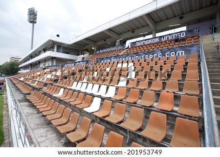 BANGKOK THAILAND-APRIL 05:Views of Thai-Japanese Stadium before matchThai Premier League Bangkok United and Police United at Thai-Japanese Stadium on Apr 05,2014 in Thailand - stock photo