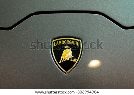 Bangkok Thailand August 02 Details Lamborghini Stock Photo Royalty