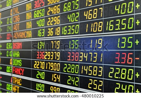 Bangkok, Thailand - AUGUST 7: Economic conditions of the Stock Exchange of Thailand on August 7, 2016