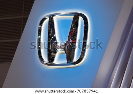 Bangkok, Thailand. - August 27, 2017 : Honda car logo at motor show.