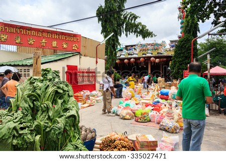 Bangkok, Thailand - August 7, 2014: Khlong Toei community, Khlong Toei is a district in central Bangkok, long known for its slum.