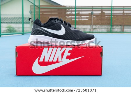 BANGKOK, THAILAND - AUGUST 27, 2017:Open box Nike air max motion LW