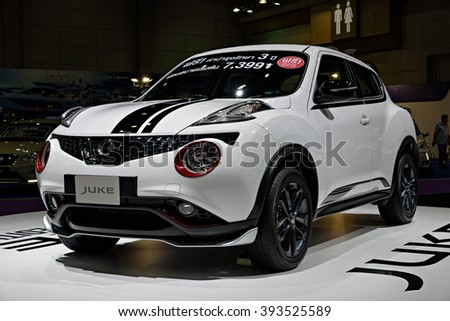 BANGKOK, THAILAND - AUGUST 6: The Nissan Juke Tokyo Edition is on display at the Bangkok International Grand Motor Sale 2015 at Bitec on August 6, 2015 in Bangkok, Thailand.