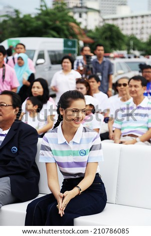 BANGKOK, THAILAND - AUGUST 09,2014 Yaya Urassaya Sperbund is Superstar in Thailand & Thai Tourism Presenter : Open big campaign thai mother's day 2014 in bangkok, thailand - stock photo