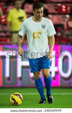 BANGKOK, THAILAND - DECEMBER 05: Fabio Cannavaro of Team Cannavaro in action during the Global Legends Series match, at the SCG Stadium on December 5, 2014 in Bangkok, Thailand. - stock photo