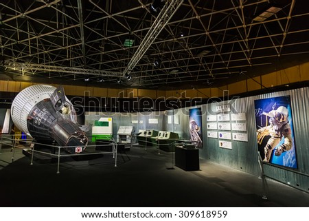 BANGKOK, THAILAND - DECEMBER 20: NASA Exhibition in Bangkok, Thailand on December 20, 2014. A space technology showcase that's set to commemorate the 180th anniversary of Thai-US relations - stock photo