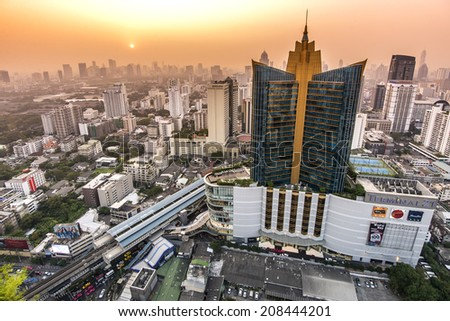 BANGKOK, THAILAND - JAN 4: Terminal 21, famous shopping mall, located near Asoke intersection on January 4, 2014 in Bangkok,Thailand. - stock photo