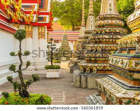 BANGKOK THAILAND - JANUARY 16 2014 Ancient Wat Pho Temple or Temple of & Reclining Buddha Bangkok Stock Images Royalty-Free Images ... islam-shia.org