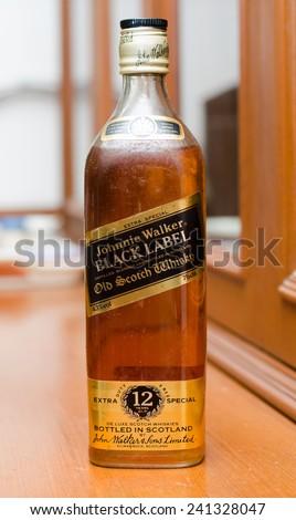 Bangkok Thailand January 032015 Johnnie Walker Black Stock Photo