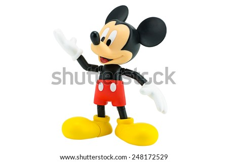 Bangkok,Thailand - January 5, 2015: Mickey  mouse action figure from Disney character. This character from Mickey mouse and friend animation series. - stock photo