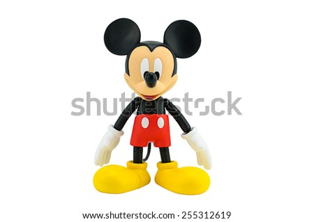 Bangkok,Thailand - January 6, 2015: Mickey  mouse action figure from Disney character. This character from Mickey mouse and friend animation series. - stock photo