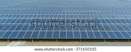 BANGKOK, THAILAND - JANUARY 30: view of Thailand solar farm on January 30, 2016 in Bangkok, Thailand.