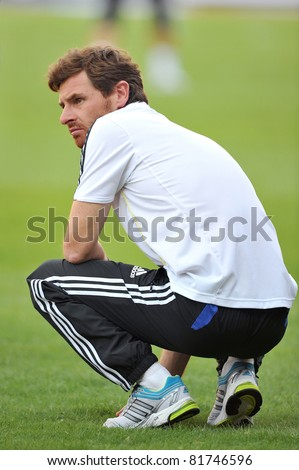 BANGKOK, THAILAND - JULY 24: A. Villas-Boas of Chelsea during the pre-season friendly match between the Thailand All Stars and Chelsea at Rajamangala Stadium on July 24, 2011 in Bangkok, Thailand. - stock photo