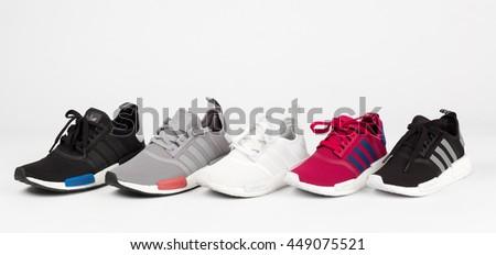 BANGKOK, THAILAND - July  8,2016: Adidas NMD collection runner shoes  - illustrative editorial