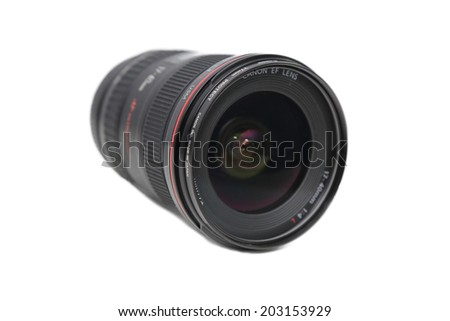 BANGKOK, THAILAND - JULY 6, 2014: The front view of canon 17-40 F4 L usm lens in bangkok thailand on 10 june 2014