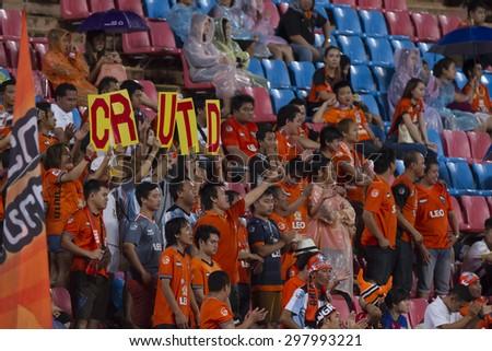 BANGKOK,THAILAND:JULY 2015:The subporter of Chaing Rai poses during football Thai Premier League between Osotspa M150 and Chiang Rai United at Rajamangala National Stadium on July19,2015inThailand.  - stock photo