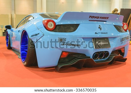 Bangkok, Thailand - June 27, 2015 : Ferrari  in Car show event at Bangkok, Thailand.  - stock photo