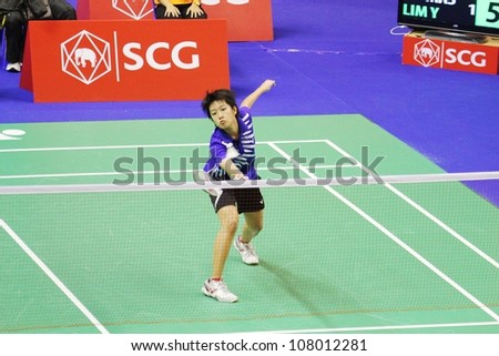 BANGKOK, THAILAND- JUNE 5: N.Benchapanyanukul in action during SCG Thailand Open Grand Prix Gold 2012 on June 5, 2012 at CU Sport Complex in Bangkok, Thailand
