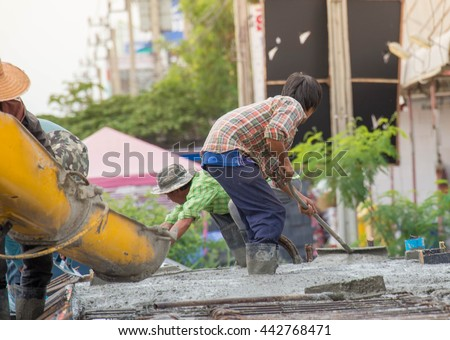 BANGKOK, THAILAND - June 26,2016: . The construction industry in Thailand