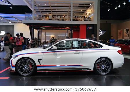 BANGKOK, THAILAND - MARCH 22 : BMW 420d Coupe modify by M Power displayed at Thailand 37th International Motorshow 2016, Arina, Muangthong Thani, on March 22, 2016. Bangkok, Thailand. - stock photo