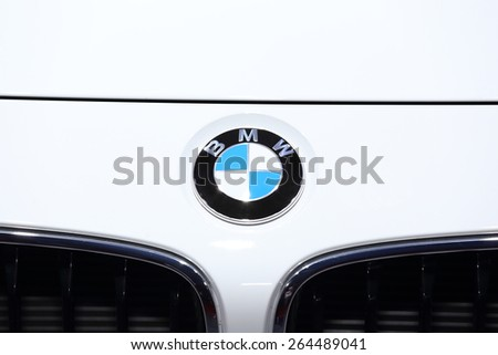 BANGKOK, THAILAND - MARCH 28, 2015: Logo of  BMW car  on March 28 2015 in Bangkok Thailand. - stock photo