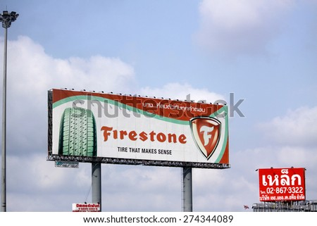 BANGKOK-THAILAND-MARCH 7 : The billboard on the highway on March 7 2015 Bangkok, Thailand