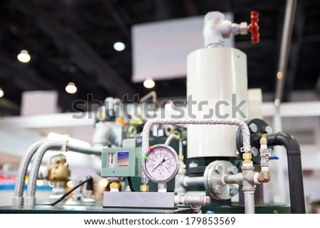 BANGKOK, THAILAND - MARCH 1:The pipes and faucet valves of heating.MARCH 1,2014 in Bangkok,Thailand.