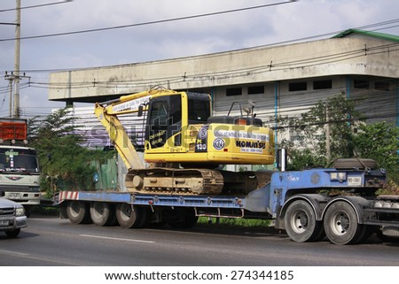 BANGKOK-THAILAND-MARCH 7 : The Truck on the way on March 7 2015 Bangkok, Thailand - stock photo