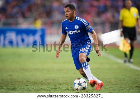 BANGKOK THAILAND MAY 30:Jay Dasilva of Chelsea in action during the Singha Chelsea fc. Celebration match Thailand All-Stars and Chelsea FC at Rajamangala Stadium on May 30,2015 in Thailand. - stock photo