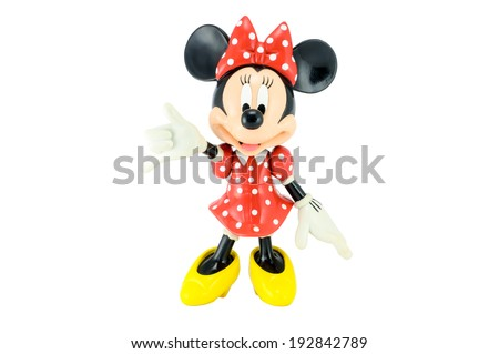 Bangkok,THAILAND - May 13, 2014 : Minnie mouse from Disney character. This character from Mickey and Minie Mouse  animation. - stock photo