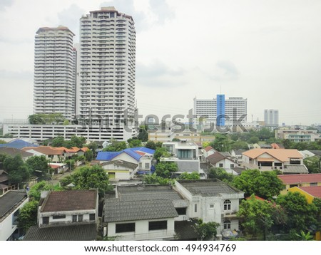 BANGKOK/THAILAND - MAY 3 2015: Streets and buildings of Bangkok City