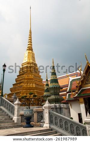 BANGKOK,THAILAND - MAY 3: Wat Phra Kaew, Grand Palace, May 3, 2011 in Bangkok,Thailand - stock photo