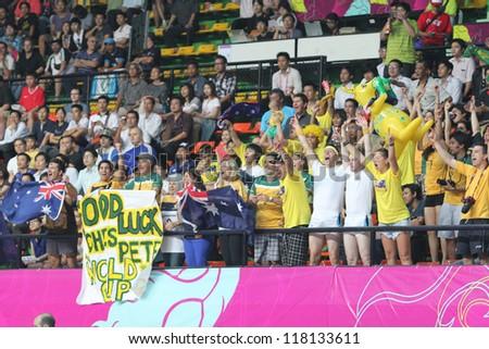 BANGKOK, THAILAND - NOV 5 : Fan Club of Australia in FIFA Futsal World Cup thailand 2012 Between Mexico (B) VS Australia (Y) on November 5, 2012 at Nimibutr Stadium in Bangkok Thailand. - stock photo