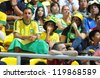 BANGKOK, THAILAND - NOV 18 : Fans of Brazil Futsal in FIFA Futsal World Cup thailand 2012 Between Spain (R) VS Brazil (Y) on November 18, 2012 at Indoor Stadium Huamark in Bangkok Thailand. - stock photo