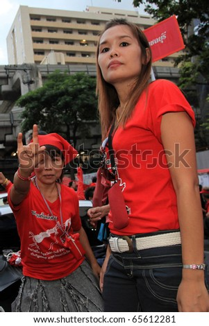 BANGKOK, THAILAND - NOV 19: Red Shirts - At least 10,000 anti-government protesters returned to Bangkok's streets to mark the 6 month anniversary of a deadly military crackdown on November 19, 2010 in Bangkok, Thailand