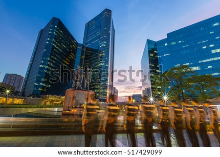 houston downtown night stock photo 269504582 shutterstock. Black Bedroom Furniture Sets. Home Design Ideas