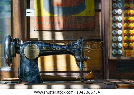 BANGKOK THAILAND 40 NOVEMBER 40 Antique Stock Photo Royalty Free Cool Antique Sewing Machine Museum