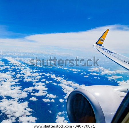 Bangkok,Thailand - November 5, 2015 : Low cost airline domestic,Now the popular because cheapness,convenient and for a moment expedition. - stock photo