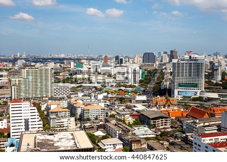 BANGKOK, THAILAND - November 23, 2011: There are office buildings, condominiums and apartments, increased the survival time in Bangkok.