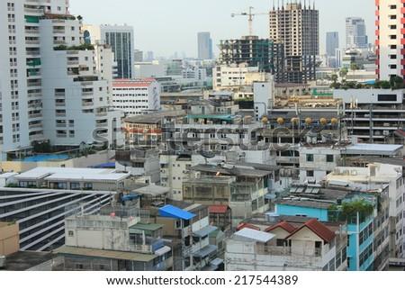 Bangkok, Thailand - September 13, 1024: Residential buildings in Asia - stock photo