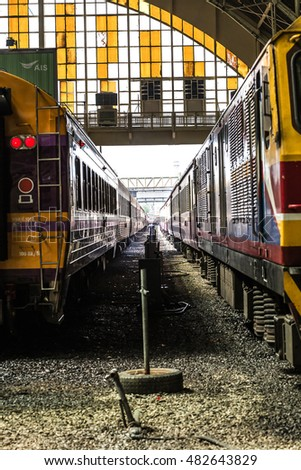 Bangkok,Thailand-SRT 2016-The State Railway of Thailand(SRT) is the state-owned rail operator in Thailand, was started in 1890. This is the 126th year anniversary.