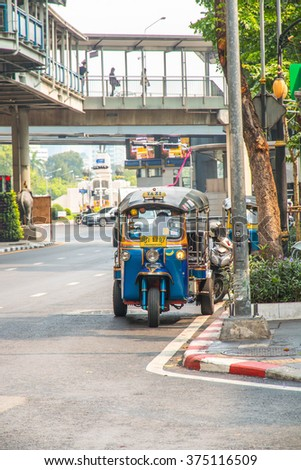 BANGKOK, THAILAND : Taxi for passenger cars in Thailand only