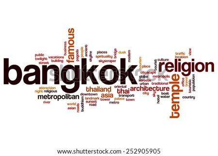 Bangkok word cloud concept - stock photo