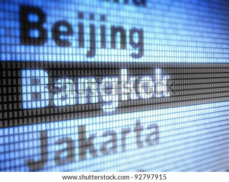 Bangkok. World capitals Full collection of icons like that is in my portfolio - stock photo