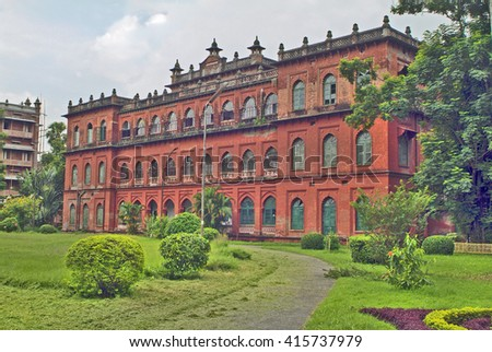 Bangladesh, Dhaka, former residence of Lord Carzon, now part of the public university - stock photo