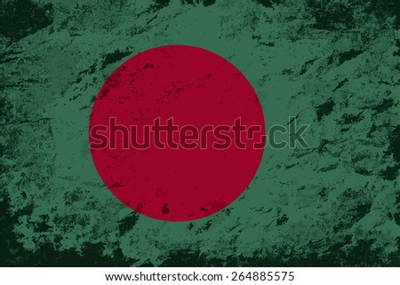 Bangladesh flag Grunge background. Raster version - stock photo