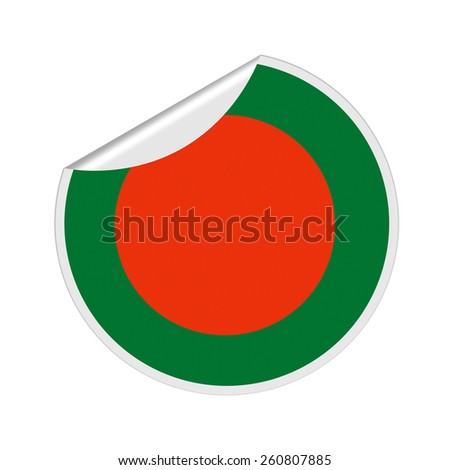 Bangladesh Flag Sticker - stock photo
