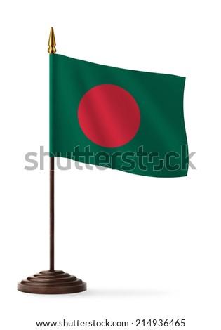 Bangladesh flag - table flag - stock photo